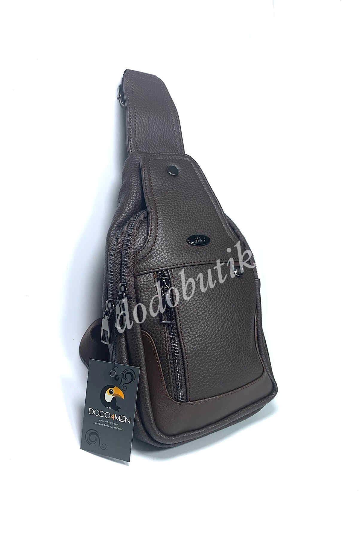 Kahverengi Erkek Çapraz Omuz Çantası Bodybag DDA11