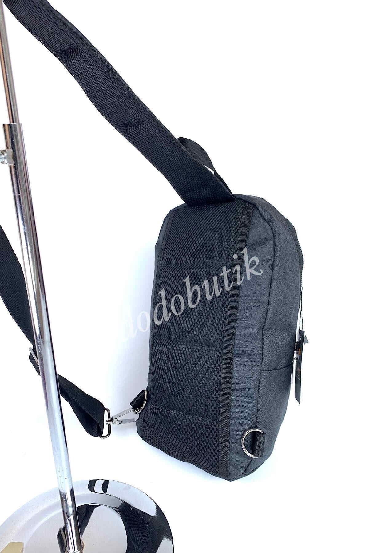 Siyah Kulaklık Çıkışlı Kumaş Bodybag DKB