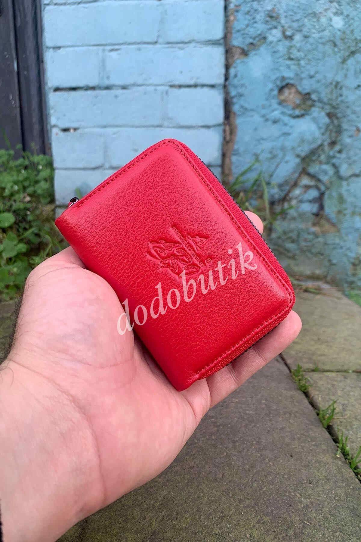 Kırmızı Hakiki Deri Kartlık DDA333
